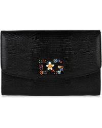 c037dd2233ca Dolce   Gabbana Leopard Wallet Cross Body Chain Bag in Black - Lyst