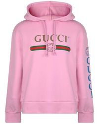 1b9e0cc966e Gucci Coco Capitán Logo Hoodie in Yellow for Men - Lyst