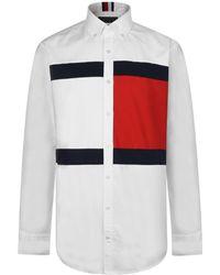 Tommy Hilfiger - Flag Oxford Cotton Shirt - Lyst