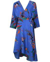 Diane von Furstenberg - Floral Asymmetric Dress - Lyst