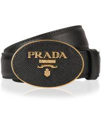 Prada Circle Logo Belt