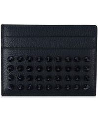Christian Louboutin Kios Spike Card Holder - Blue