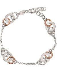 Links of London - Aurora Sterling Silver And 18kt Rose Gold Vermeil Multi Link Bracelet - Lyst