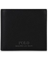 Polo Ralph Lauren - Pebbled Leather Billfold Wallet - Lyst
