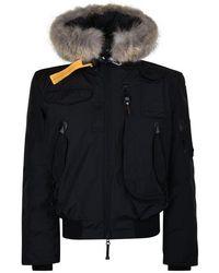 Parajumpers Gobi Fur Bomber Jacket - Black