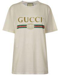 Gucci - Fake Logo T Shirt - Lyst