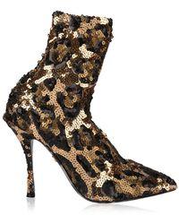 Dolce & Gabbana - Sequin 90 Sock Boots - Lyst