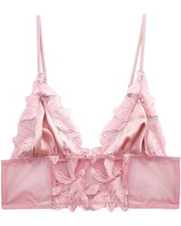 Fleur du Mal | Lily Embroidery Long Lined Triangle Bra | Lyst