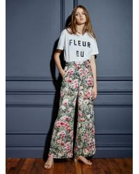 60eb3a028 Fleur du Mal Side Closure Wide Leg Pant - Lyst
