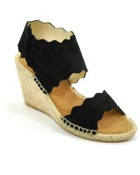 275 Central - Suede Scallop Espadrille Wedge - Lyst
