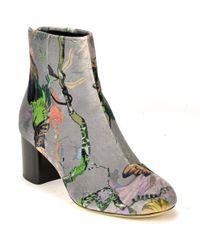 Rag & Bone - Velvet Block Heel Ankle Boot - Lyst