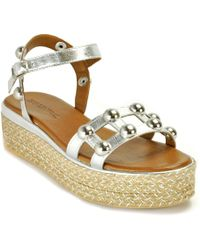 275 Central - Metallic Espadrille Wedge - Lyst