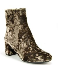 Footnotes - Velvet Ankle Boot - Lyst