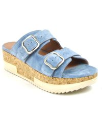 275 Central - Suede Slide Buckle Wedge - Lyst