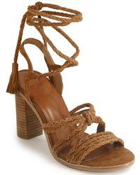 Joie - Woven Leg Wrap Sandal - Lyst