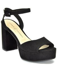 Chinese Laundry - Theresa Sandal Black Microsuede - Lyst