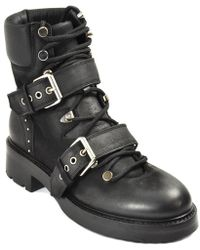Strategia - Leather Lug Bootie - Lyst