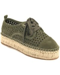 J/Slides - Perforated Espadrille Trainer - Lyst