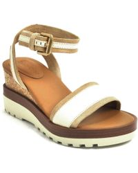 See By Chloé - Natural Wedge Sandal - Lyst