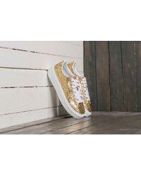 Lyst - PUMA Basket Platform Glitter Sneakers in Metallic 70e7cb446