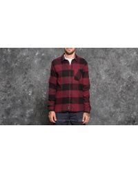 Footshop - Cheap Monday Give Shirt Darkest Red/ Black - Lyst