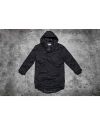 Footshop - Urban Classics Cotton Peached Canvas Parka Black - Lyst