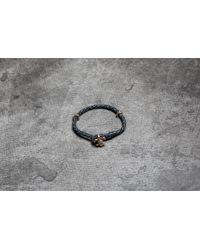 Footshop - Rebel Heritage Lys Leather Bracelet Black/ Rose Gold - Lyst
