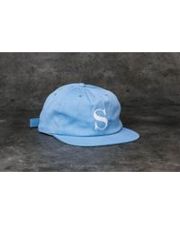 3a99a829a62 Stussy - S Logo Pigment Strapback Cap Light Blue - Lyst