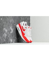 sports shoes b3225 70c00 Nike - Air Max 1 Wmns Vast Grey  Habanero Red - Lyst