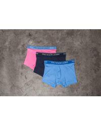 Footshop - Ralph Lauren 3 Pack Classic Trunks Navy/ Blue/ Pink - Lyst