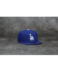 KTZ - 59fifty Acperf Los Angeles Dodgers Cap Blue - Lyst