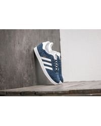 promo code 44c4e 7604f adidas Originals - Adidas Gazelle Collegiate Navy  White  Gold Metallic -  Lyst