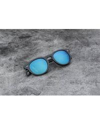 Stussy - Romeo Sunglasses Matte Black/ Blue Mirror - Lyst