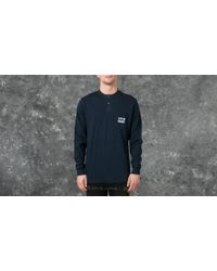 Footshop - Polar Train Banks Henley Longsleeve Tee Navy - Lyst
