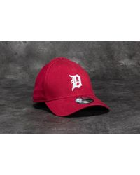 KTZ - 39thirty Washed Detroit Tigers Cap Scarlet - Lyst