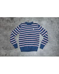 Footshop - By Parra Stripes Knitted Pullover Navy - Lyst