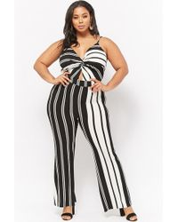Forever 21 - Women's Plus Size Striped Jumpsuit - Lyst