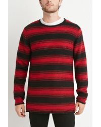 Forever 21 | Striped Purl Knit Sweater | Lyst