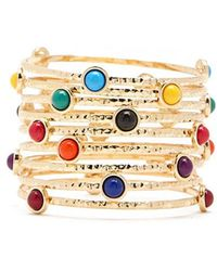 Forever 21 - Multi-colored Geo Bangle Bracelet Set - Lyst