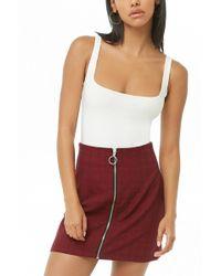 Forever 21 - Plaid Zippered Skirt - Lyst