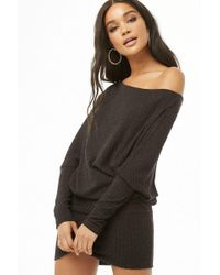 Forever 21 - Asymmetrical Ribbed Sweater Dress - Lyst