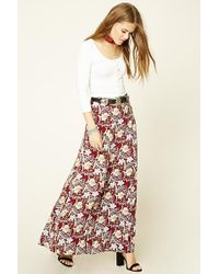 4370ed526700 Forever 21 - Floral Print Maxi Skirt - Lyst