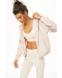 Forever 21 - Active Metallic Striped Jacket - Lyst