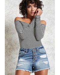 Forever 21 - Shorts di jeans consumati - Lyst