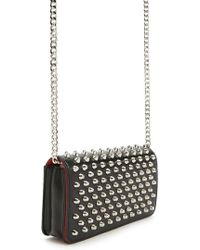Lyst - Forever 21 Chain Faux Leather Crossbody in Black 7b67350c6c0cb
