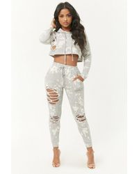 Forever 21 - Distressed Bleach-dye Joggers - Lyst