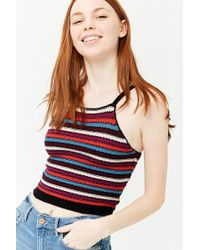 Forever 21 - Women's Striped Crochet Camisole Top - Lyst
