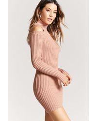 Forever 21 - Open-shoulder Jumper Dress - Lyst