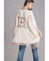 Forever 21 - Z And L Europe Tasseled Kimono - Lyst