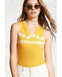 Forever 21 - Palm Tree Graphic Bodysuit - Lyst